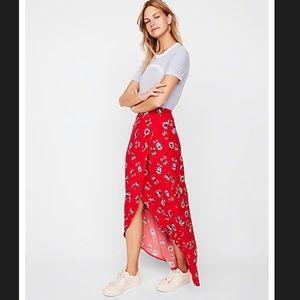 EXPRESS Floral Maxi Wrap Skirt